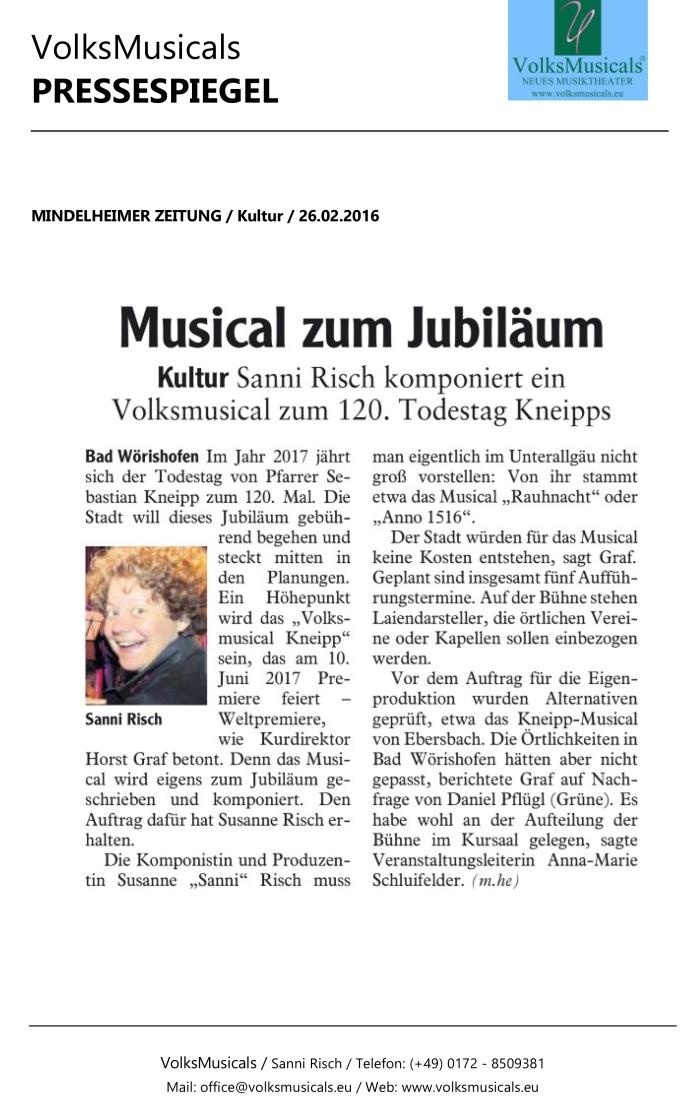 VolksMusicalsPresspiegelLANDSBERGERTAGBLATT18.12.2015LeserTipp