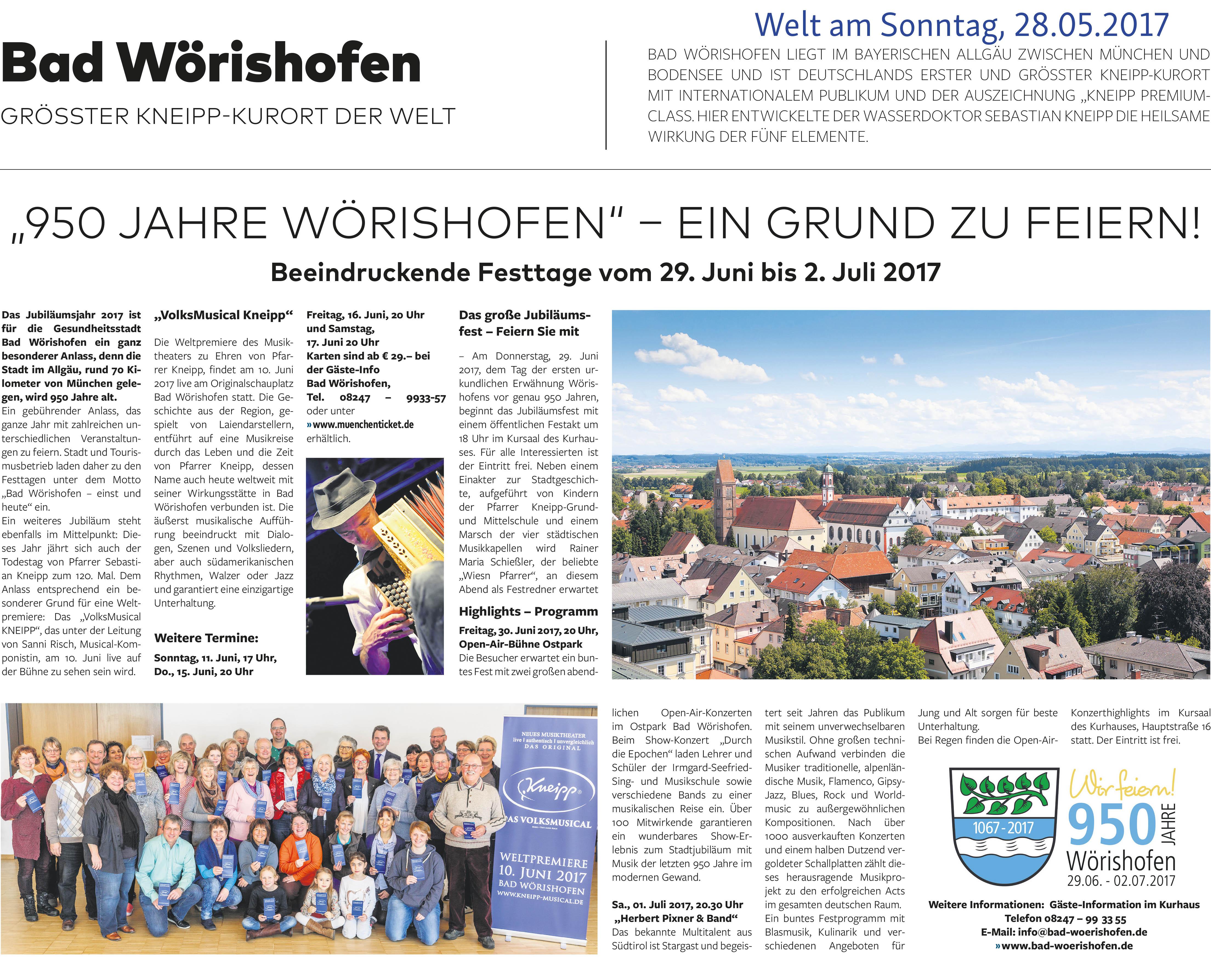 """Vorbericht """"Welt am Sonntag"""""""